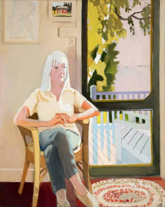 Aline by the Screen Door by Fairfield Porter