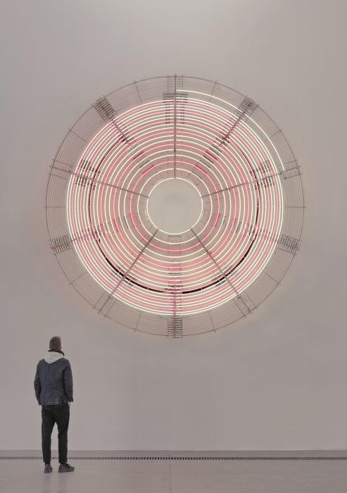 Decimal Clock (White and Pink) by Carsten Höller