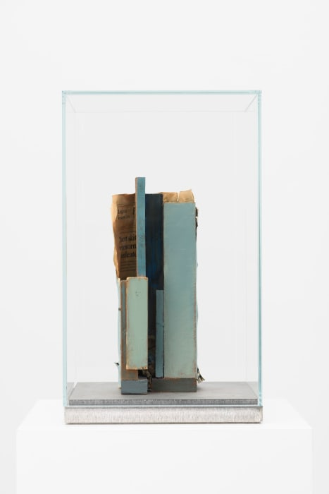 Composition with Blue Verticals by Mark Manders
