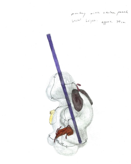 Monkey Vessel Sketch (Prepatatory Study) by Amy Lien Enzo Camacho