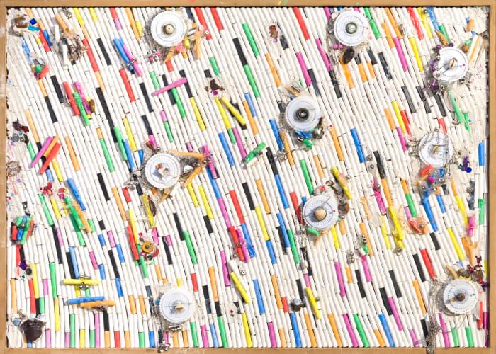 Fresques de Craies C (1) by Pascale Marthine Tayou