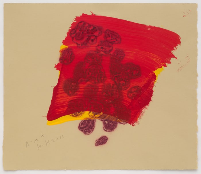 A Glass of Red by Howard Hodgkin
