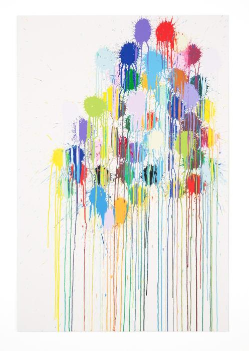 Colour Splat Cluster by Ian Davenport