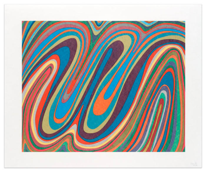 Irregular Wavy Bands by Sol LeWitt