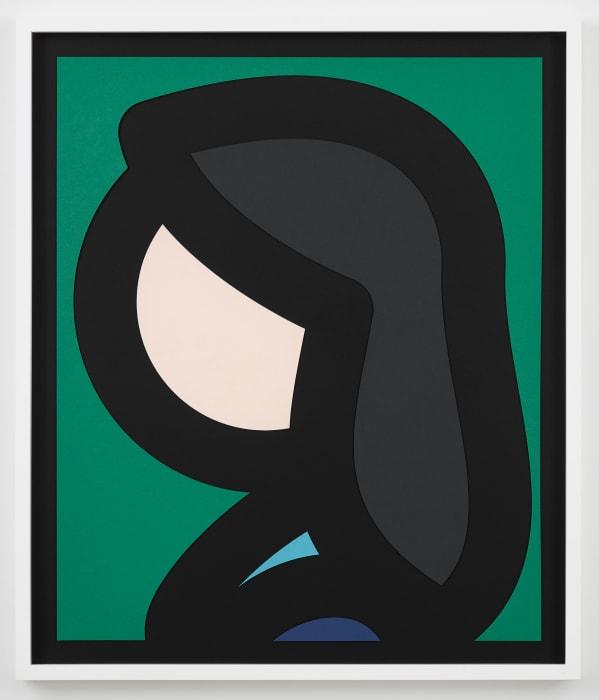 Paper Head 6. by Julian Opie
