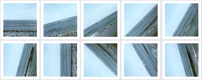 Sea 0° - 135° by Jan Dibbets