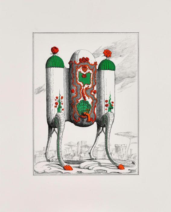 Tea Urn on Legs I by Pablo Bronstein