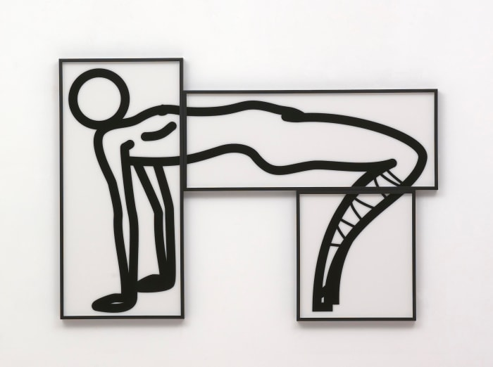 This is Shahnoza in 3 parts. 3. by Julian Opie