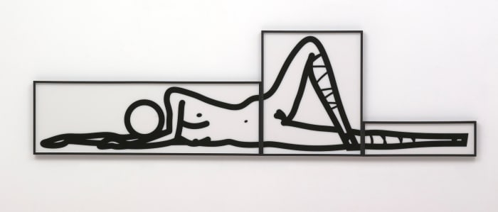 This is Shahnoza in 3 parts. 4. by Julian Opie
