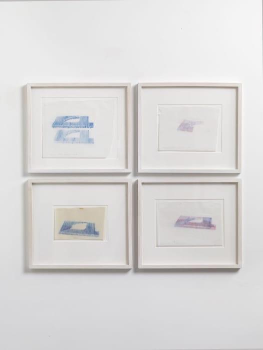 Drawing study, shading, spatial interlock by Max Neuhaus