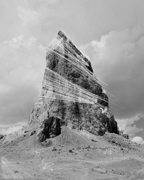 Agathla Peak Hough Transform; Haar by Trevor Paglen