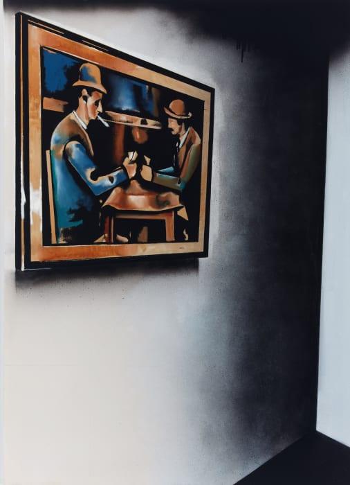 Greek Cafe with Cezanne by Wilhelm Sasnal