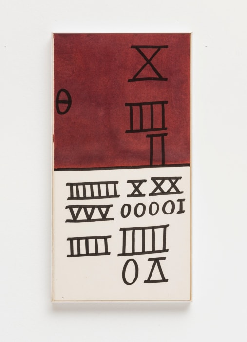 Untitled (from Calculations series) by Mira Schendel