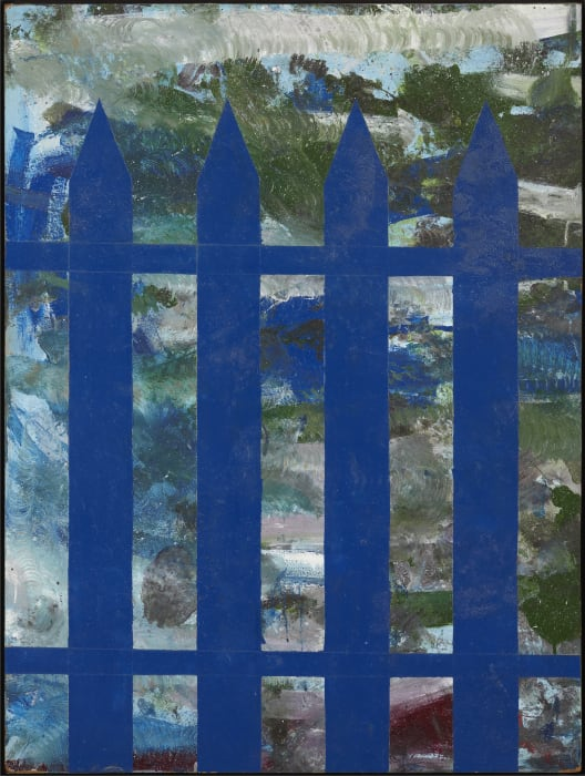 Untitled (Blue picket fence) by Per Kirkeby