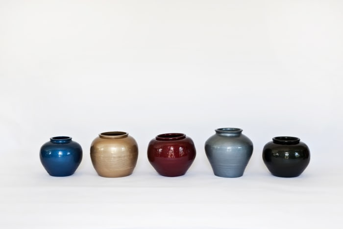 Han Dynasty Vases with Auto Paint by Ai Weiwei