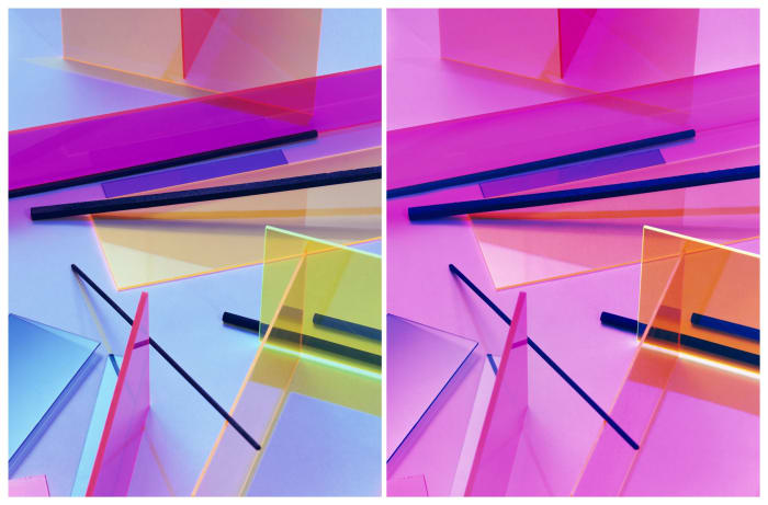 Composition Diptych by Barbara Kasten