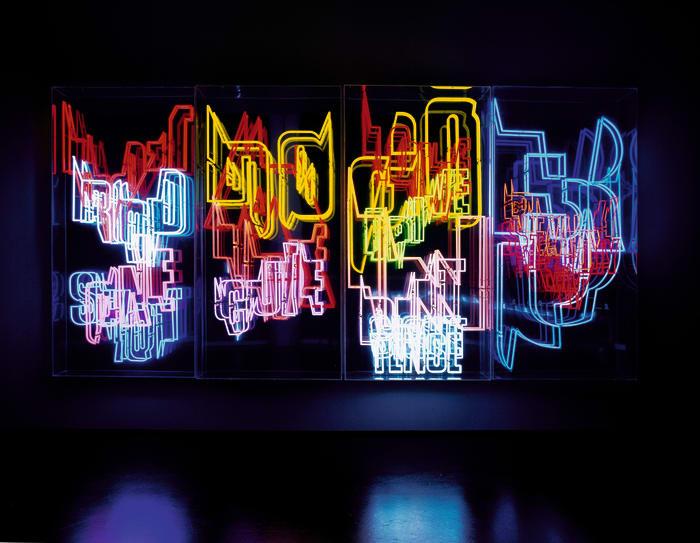 (01) Neon Text by Ferdinand Kriwet