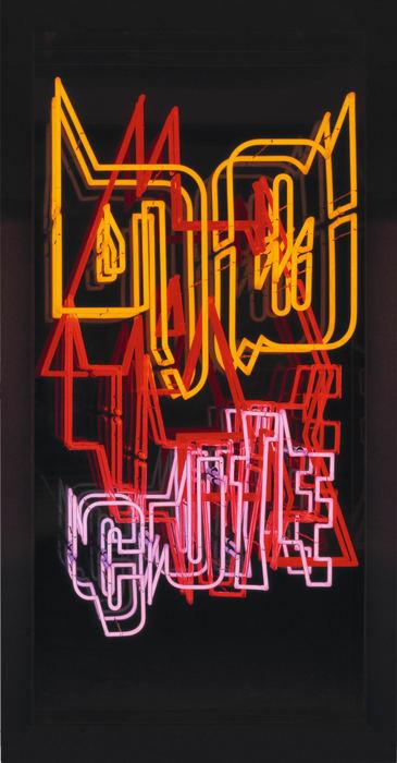 (03) Neon Text 2 by Ferdinand Kriwet