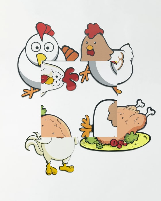 Chicken Rotation by Urs Fischer