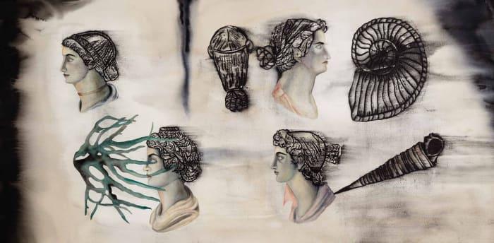Runway of Wounds – II (Bottom panel) by Anju Dodiya