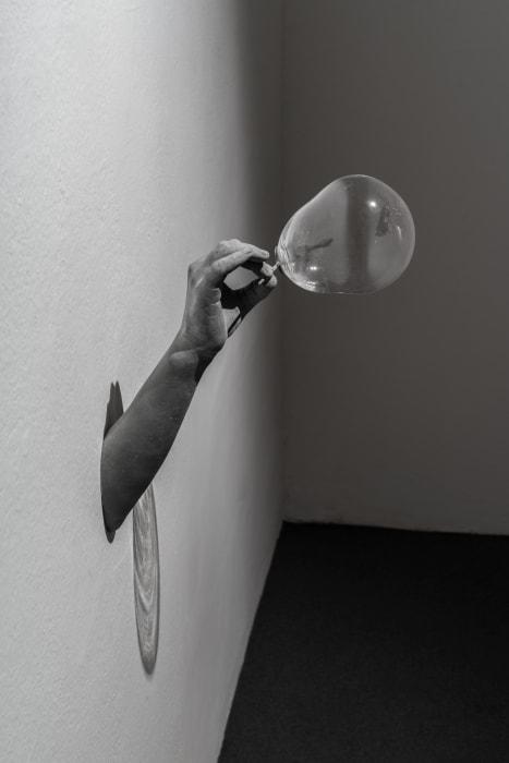 Gesture (Soap Bubble) by Hans Op de Beeck