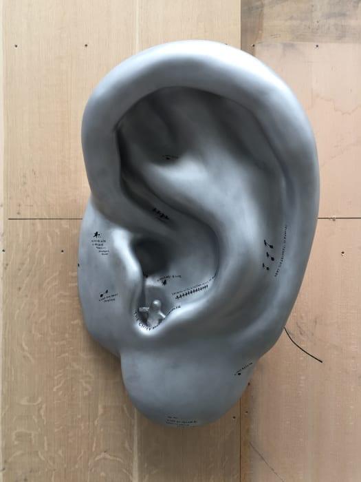 A SS Ear (State Security E.) by Nedko Solakov