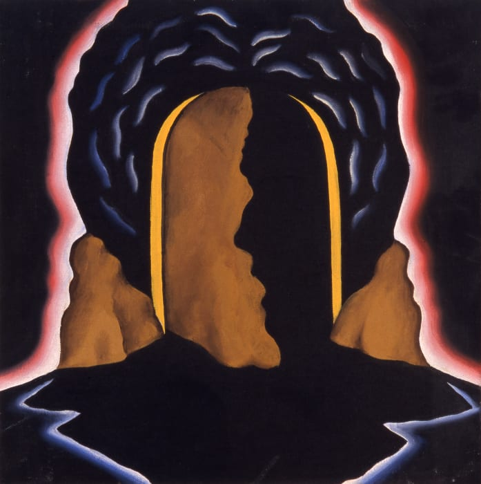 Untitled (Central arch/ profile/ hair form/ halo) by Roger Brown