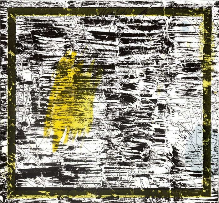 Untitled (yellow) by Jacqueline Humphries