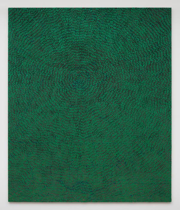 Elements of All Entities (Universe Mandala SF #6G, Green, Black Sand) by Jennifer Guidi
