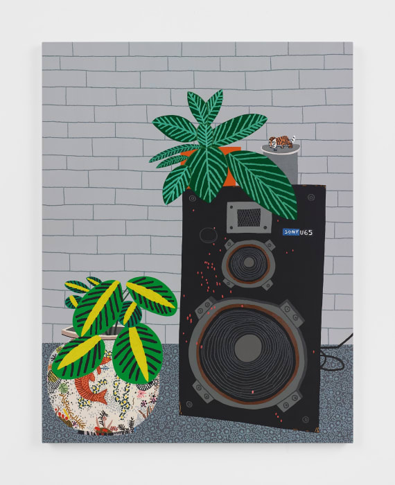 Blackwelder Speaker Still Life by Jonas Wood
