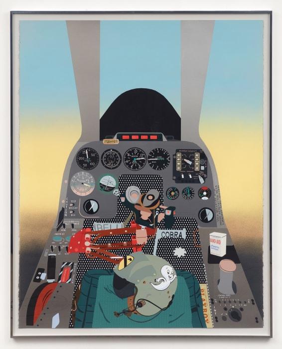 Concerning Vietnam: Bell AH-1 Cobra, Gunner's Seat (Band-Aid) by Matthew Brannon