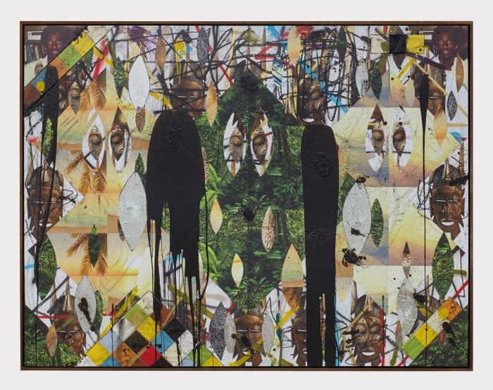 Untitled Escape Collage by Rashid Johnson