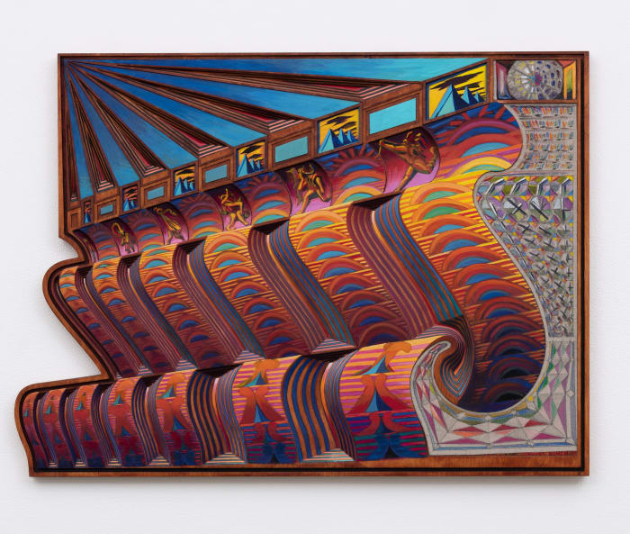 Zodiac Bench / Sunset Strips by Zach Harris