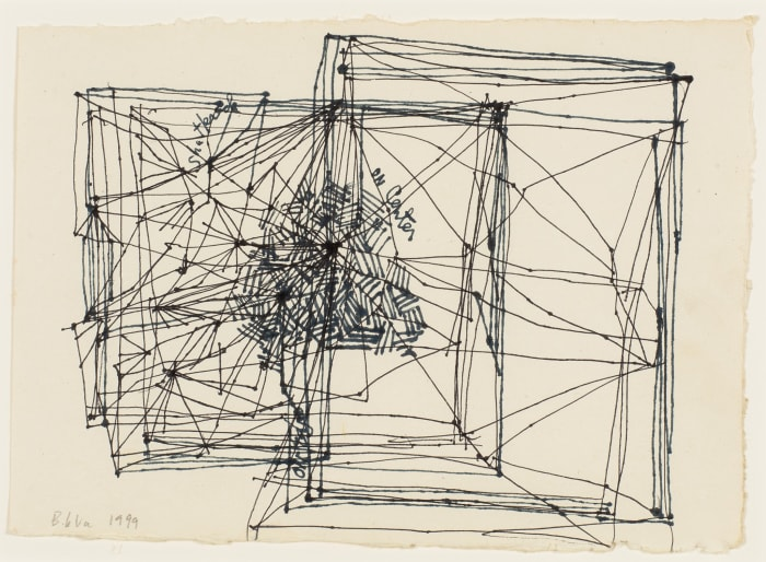 """Study for Installation, """"On Edge, On Center Shatter"""" (1968-71), Porto, Portugal, 1999 by Barry Le Va"""