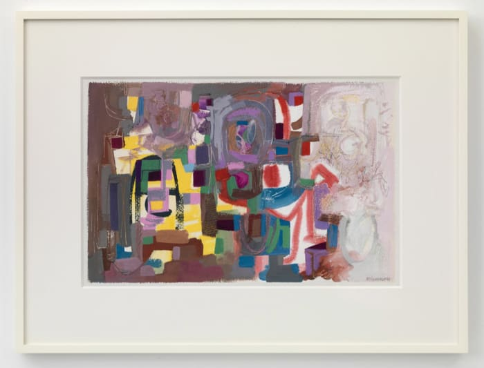 Abstract Gouache Painting by Ad Reinhardt