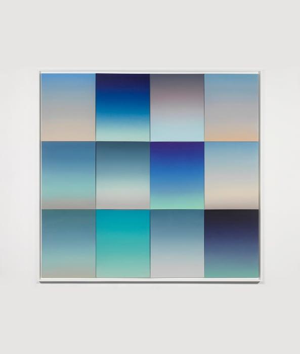 Gradient Studies, 12 panels (Skies) by Rob Pruitt