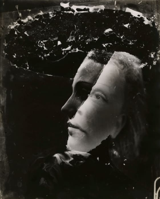 Untitled (double-exposed portrait) by Dora Maar