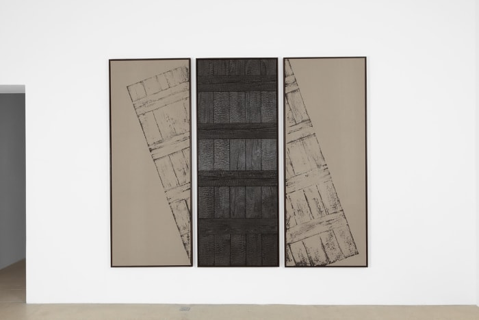 Burnt Painting, Imprint of the Burnt Painting (Burnt In the Middle with You) by Davide Balula