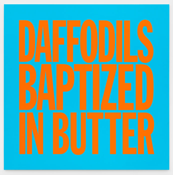 DAFFODILS BAPTIZED IN BUTTER by John Giorno