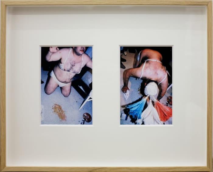 Yo no vengo a vender, sino a regalar, 1982 (Mambo número ocho de Pérez Prado) Museum of Modern Art, Biennial of Paris by Carlos Leppe