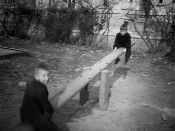 Children, Wiesbaden D.P. Camp, 1946 by Jonas Mekas