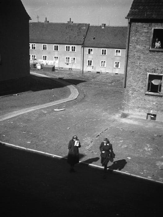 Kassel/Mattenberg D.P. Camp, 1948. Siesta time… by Jonas Mekas