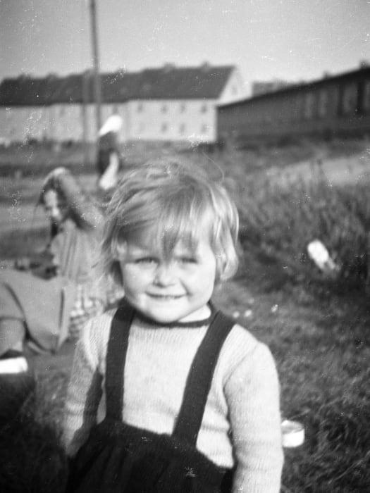 A child, Kassel/Mattenberg D.P. Camp, 1948 by Jonas Mekas