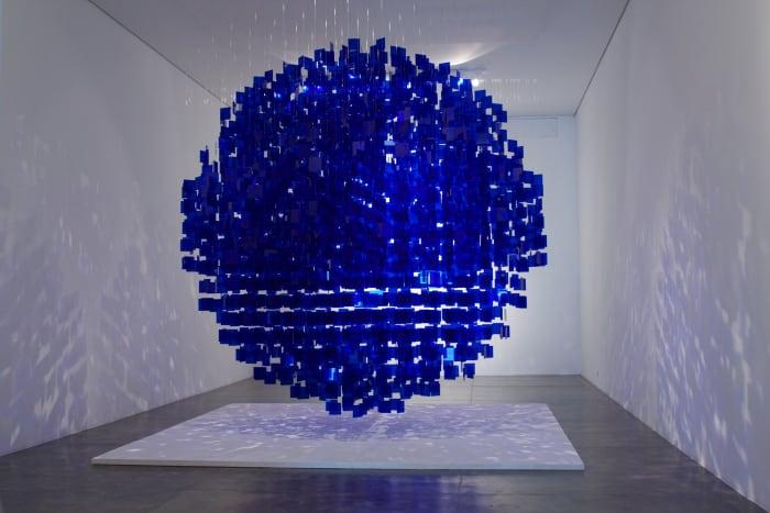 Sphère bleue by Julio Le Parc