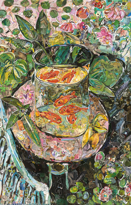 Repro: Hermitage Museum (The Goldfish, after Matisse) by Vik Muniz