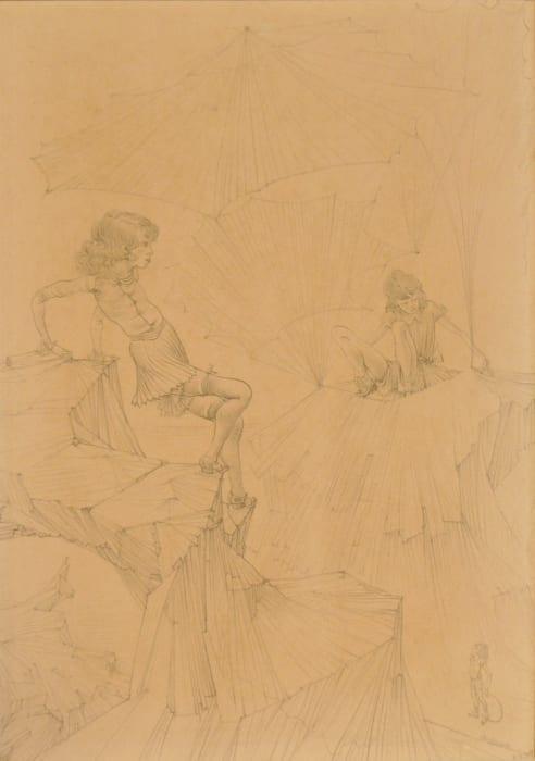 """Sans titre pour """"Oeillades ciselées en branche"""" by Hans Bellmer"""