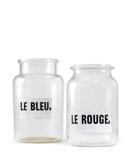 Le rouge et le bleu by Marcel Broodthaers