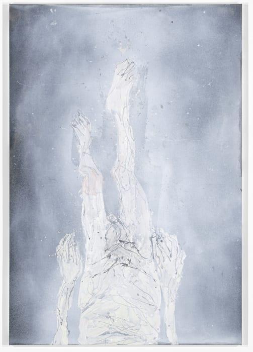 Die Kellertreppe steil herunter by Georg Baselitz