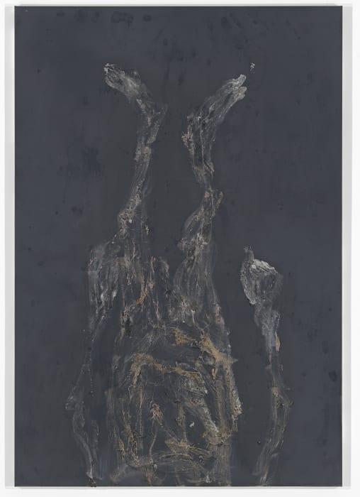 Man steht vor einer schwarzen Wand by Georg Baselitz