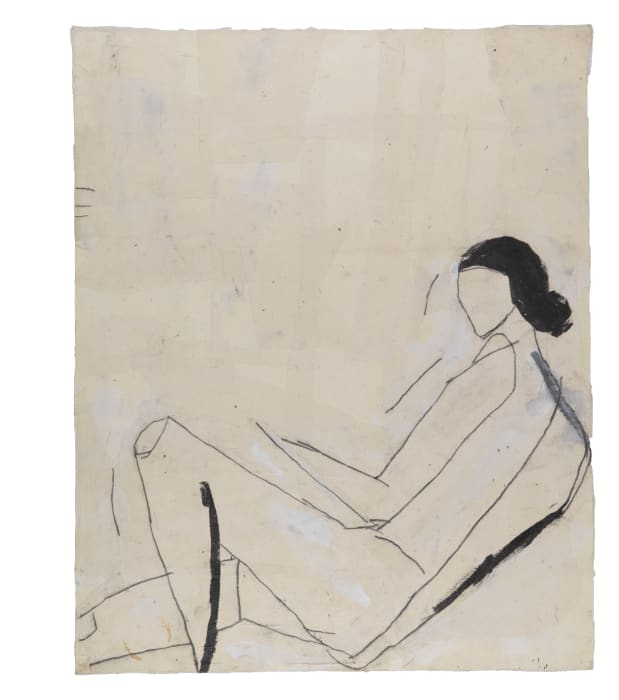 Reclining Nude (After Shelby Creagh) by Donald Baechler